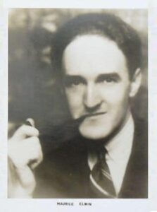 Maurice Elwin with Pipe (Postcard)