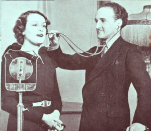 Maurice Elwin with Stethoscope, June 1934