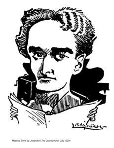 Maurice Elwin Caricature by Lissenden (c/o John Watson)